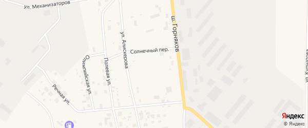 Солнечный переулок на карте Билибино с номерами домов