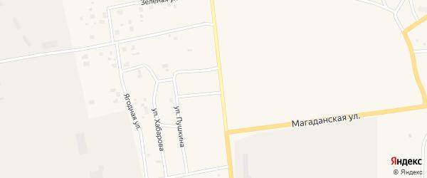 Таежная улица на карте Билибино с номерами домов