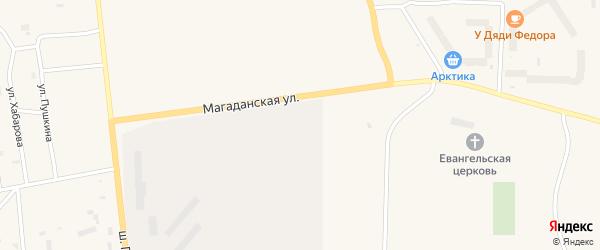 Магаданская улица на карте Билибино с номерами домов