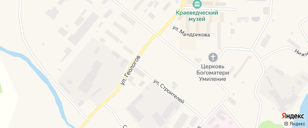 Улица Геологов на карте Билибино с номерами домов