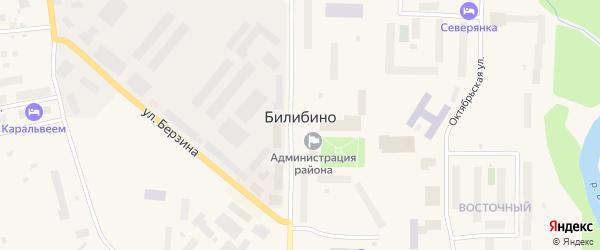 Улица Жуковского на карте Билибино с номерами домов