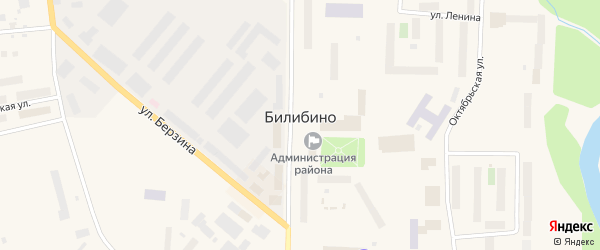 Улица Комарова на карте Билибино с номерами домов