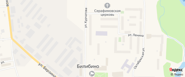 Улица Курчатова на карте Билибино с номерами домов