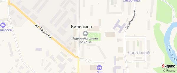Красноармейская улица на карте Билибино с номерами домов