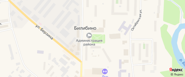 Улица Строителей на карте Билибино с номерами домов