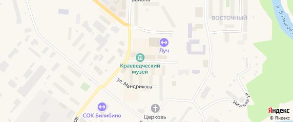 Комсомольская улица на карте Билибино с номерами домов