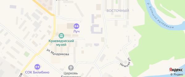 Площадь Ленина на карте Билибино с номерами домов