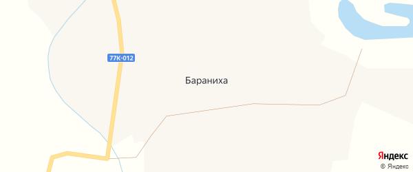 Советская улица на карте поселка Баранихи с номерами домов