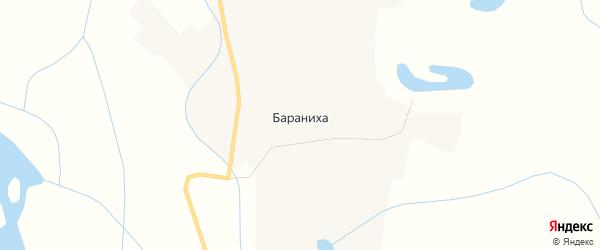 Карта поселка Баранихи в Чукотском автономном округе с улицами и номерами домов