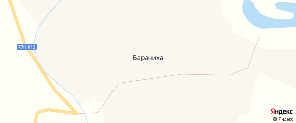 Заречная улица на карте поселка Баранихи с номерами домов