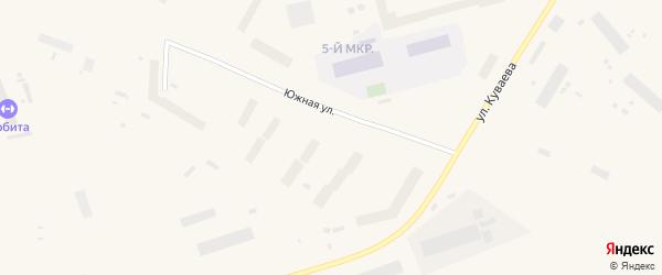 Южная улица на карте Певека с номерами домов