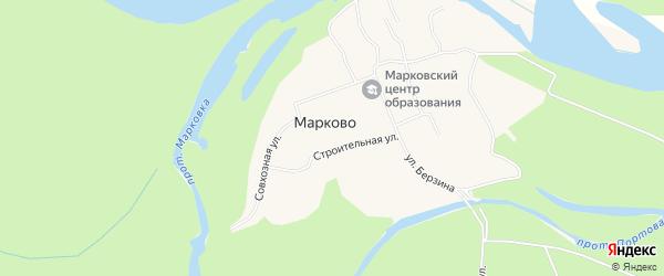 Карта села Марково в Чукотском автономном округе с улицами и номерами домов
