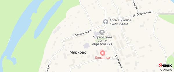 Полярная улица на карте села Марково с номерами домов