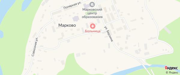 Строительная улица на карте села Марково с номерами домов