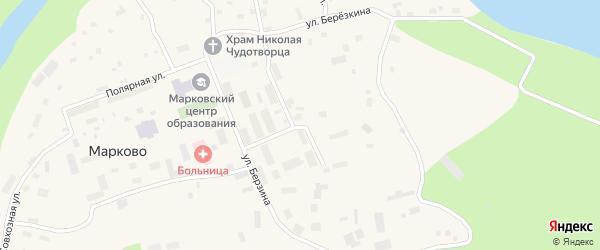 Больничная улица на карте села Марково с номерами домов