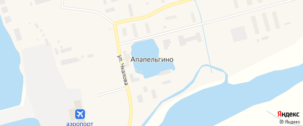 Полярный переулок на карте поселка Апапельгино с номерами домов
