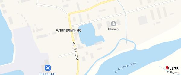 Улица Чкалова на карте поселка Апапельгино с номерами домов
