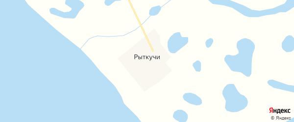Карта села Рыткучи в Чукотском автономном округе с улицами и номерами домов