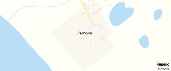 Озерная улица на карте села Рыткучи с номерами домов