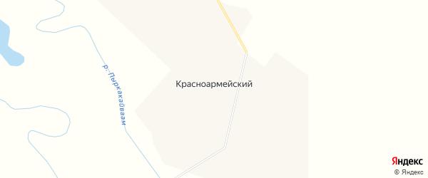 Карта Красноармейского поселка в Чукотском автономном округе с улицами и номерами домов