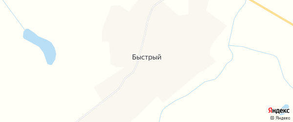 Карта Быстрого поселка в Чукотском автономном округе с улицами и номерами домов