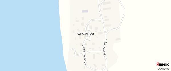 Советская улица на карте Снежного села с номерами домов