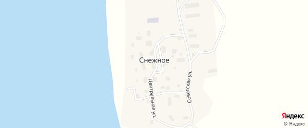 Набережная улица на карте Снежного села с номерами домов