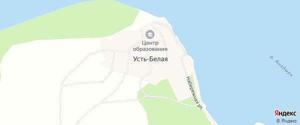 Карта села Усть-Белой в Чукотском автономном округе с улицами и номерами домов