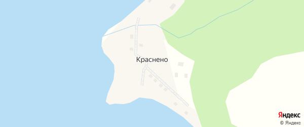 Набережная улица на карте села Краснено с номерами домов