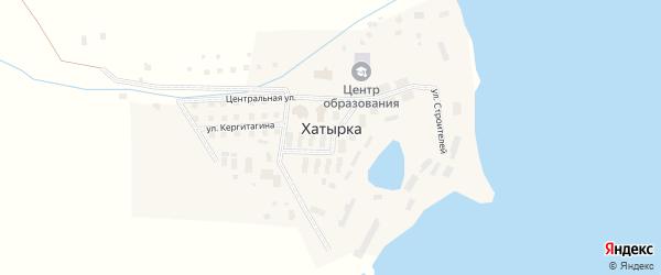 Улица Строителей на карте села Хатырка с номерами домов