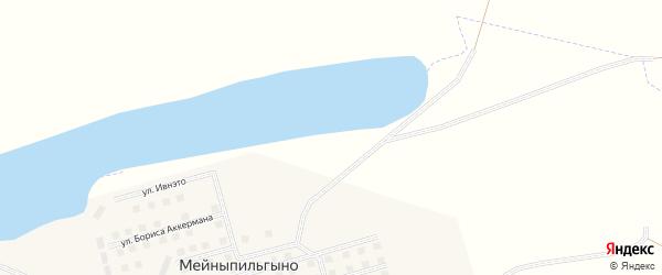 Улица Украинских строителей на карте села Мейныпильгыно с номерами домов