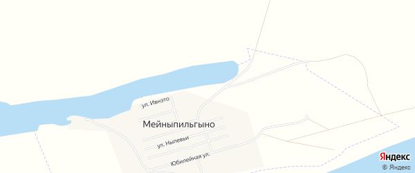 Карта села Мейныпильгыно в Чукотском автономном округе с улицами и номерами домов