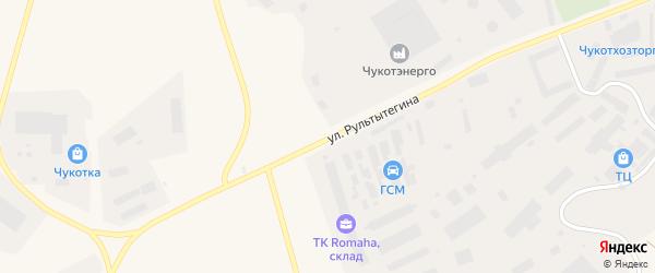 Улица Рультытегина на карте Анадыря с номерами домов