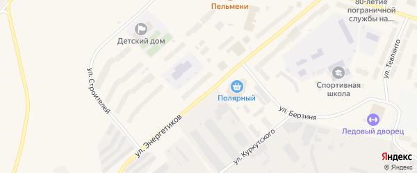 Улица Энергетиков на карте Анадыря с номерами домов