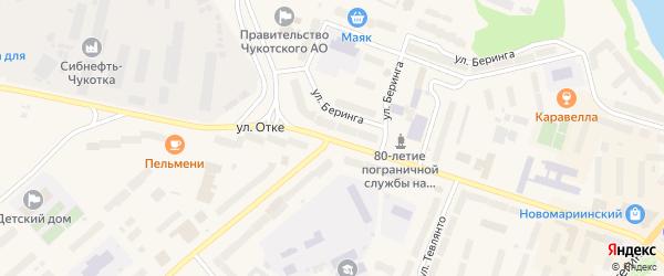 Улица Отке на карте Анадыря с номерами домов