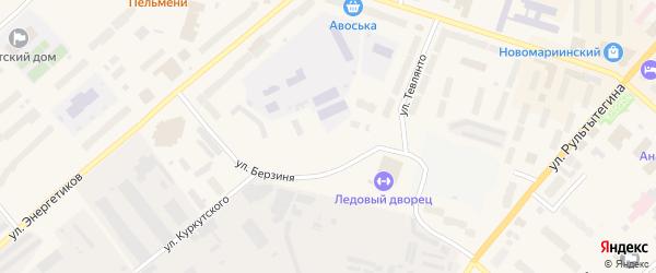 Улица Куркутского на карте Анадыря с номерами домов