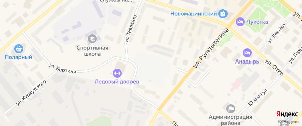 Чукотская улица на карте Анадыря с номерами домов