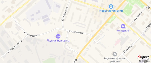 Чукотская улица на карте села Тавайваама с номерами домов