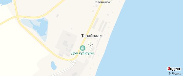 Озерная улица на карте села Тавайваама с номерами домов