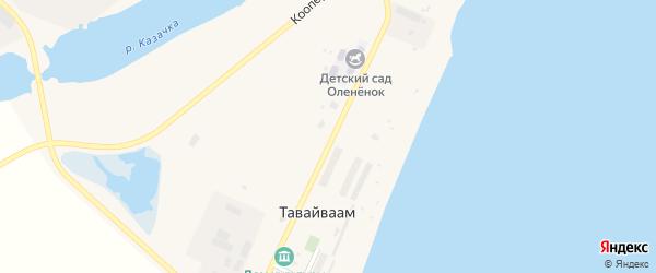 Колхозная улица на карте села Тавайваама с номерами домов