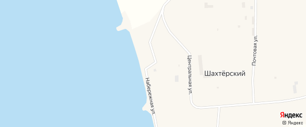 Набережная улица на карте Шахтерского поселка с номерами домов