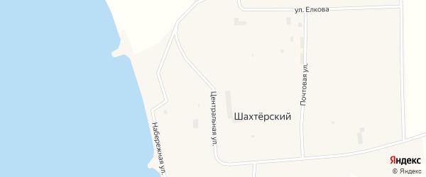 Центральная улица на карте Шахтерского поселка с номерами домов