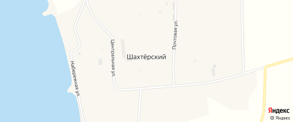 Улица Чкалова на карте Шахтерского поселка с номерами домов