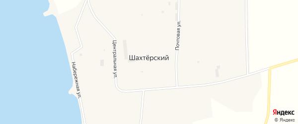 1-й микрорайон на карте Шахтерского поселка с номерами домов