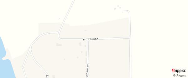 Улица Елкова на карте Шахтерского поселка с номерами домов
