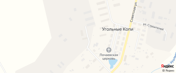 Октябрьская улица на карте поселка Угольные Копи с номерами домов