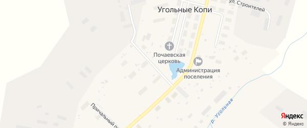 Полярная улица на карте поселка Угольные Копи с номерами домов
