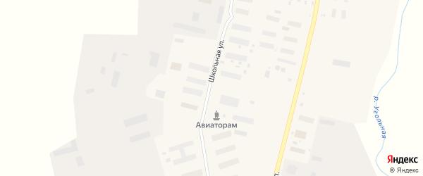 Школьная улица на карте поселка Угольные Копи с номерами домов