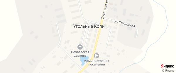 Финская улица на карте поселка Угольные Копи с номерами домов