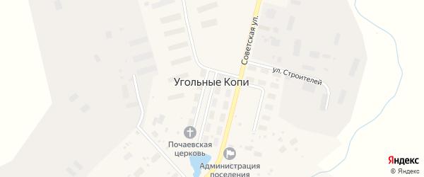 Причальная улица на карте поселка Угольные Копи с номерами домов